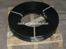 steel black painted & waxed strip