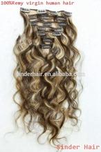 Fast shipping raw brazilian hot beauty virgin 22 inch clip