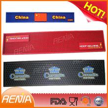 RENJIA silicon rubber wine glass coaster red bar runner mat runner bar mat