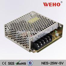 100% Original NES 25W single output power supply 5v 5a led switching smps