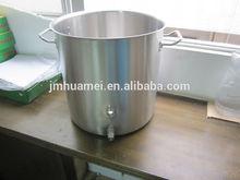 100L de inducción de acero inoxidable olla con grifo