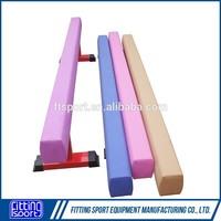 Gymnastic equipment wood balance beam for training