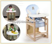 design wooden baby chair/high chair