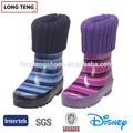 Venta al por mayor caliente botas de agua para el bebé con que hace punto del manguito de lana de todo la impresión