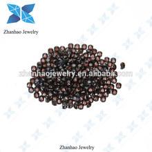 wuzhou manufacture 2mm cz stone brown zircon