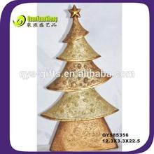 2014 new degign gold color resin christmas tree