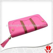 Leather grass root metal zipper head metal zipper PU leather purse lady Zipper Wallet