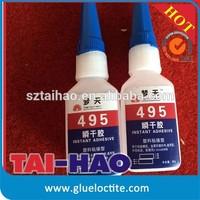 Cyanoacrylate adhesive Mengtian 495 heat resistant glue for plastic