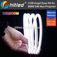 factory price universal led halo ring full circle and semi-circle cob car led ring angel eyes light headlight
