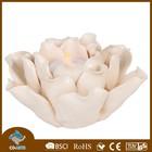 Handmade ceramic lotus flower shaped votive antique candle holder