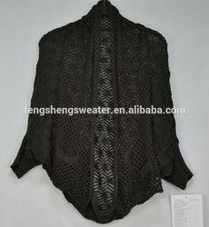 2014 100% Acrylic knitwear crochet patterns fans knitted shrug