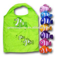 Folding Style and Fish Shape Polyester foldable bag