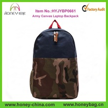 Unisex Unique Camo Military Army Canvas Laptop Backpack