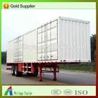 2 axles van truck and semi trailer/strong box trailers/grain semi trailer dimensions
