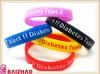new custom adjustable silicone wristband/personalized silicone bracelet/silicone wrist bands factory