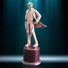 Sherlock Holmes famous metal sculptures