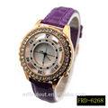 venta al por mayor de china de las señoras de cuero de moda reloj de pulsera