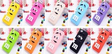 New Lovely Chocolate Soft Silicone Case For Apple iphone6 Colorful Back Rainbow Beans Cell Phone Cover Bag