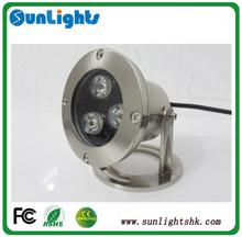 Wholesale IP68 led swimming pool lamp 3w underwater light