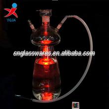 China Factory Glass Art Hookah Shisha Glass led Hookah