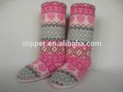 2014 cheap lovely women knee knit boots