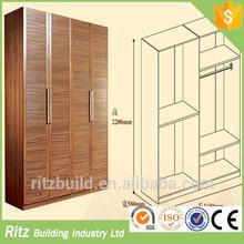 Super Discount!!! 2015 Ritz hot selling customized doors solid wood Veneer MDF bedroom wardrobe
