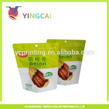 strong barrier resealble plastic snack food zipper bag