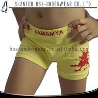 FREE SAMPLES Shantou supplier 2014 new design nylon spandex seamless boy boxer kids underwear models