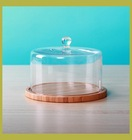 Wholesale glass dome cake stand for tableware