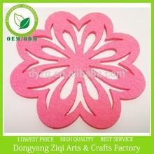 Pink flower felt placemats felt coasters