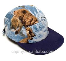 Fashion cotton snapback cap Pattern custom hats supplier