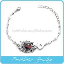 cattolicesimo rosario razze in acciaio inox catene relgioud crocifisso braccialetto braccialetto con resina epossidica Maria immagine
