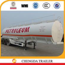 3-axle cheap 45000L tanker transportation semi trailer,tri axle oil fuel truck dimensions