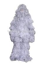 2015 al aire libre para adultos ghillie traje de nieve 3-d camo caza camuflaje
