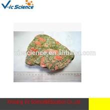 Natural epidote epidote granite flower green mineral raw granite rock samples