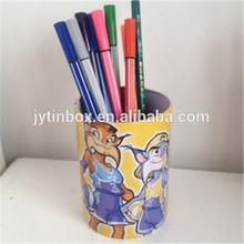Promotional tin case/tin can/tin box packing box popular pen container tin box