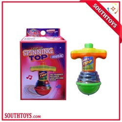 led light musical spinning top with light music