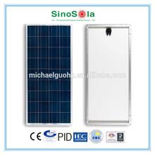 solar panel 150w mono or poly made of A-grade solar cells