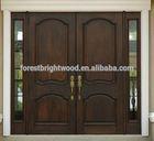Rustic Double Leaf Wooden Entry Door, Wooden Entry Door Pairs