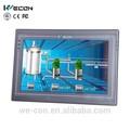 Wecon 10.2 pulgadas panel pc ethernet pantalla táctil hmi sistema linux disponible