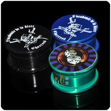Factory direct Metal tobacco grinder zinc three piece 052J