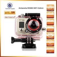 RD990 full HD 1080P 170 degree wide angle 12MP 1080p hd sport camera waterproof 60m wifi Action camera VS black edition