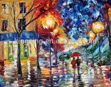 55665 leaf handmade art oil painting canvas painting yiwu 2016