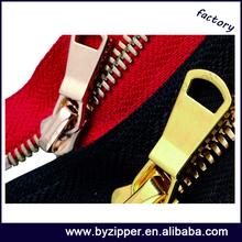 high quality Y teeth big eco friendly golden brass zipper for handbag