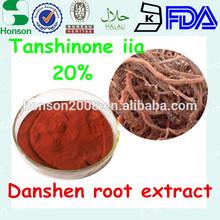 Salvia miltiorrhiza dan shen extract 20% Tanshinone II A