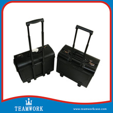 PVC Leather train Case, PVC Leather Hair Scissor Organizer Boxes,PVC Leather Trolley Case with Tool Pallet and Compartment