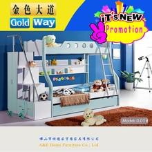 D02 space saving kids pink princess bunk style bed