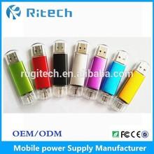 New metal USB flash drive 2014 new products 32gb 64gb 128gb oem 3.0 NEW Metal otg usb flash drive