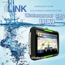 waterproof 4.3'' car gps navigator sd card free map W-40