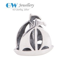 925 Sterling Silver Jewelry Sailing Charms Wholesale Beads For Jewelry Making